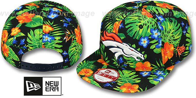 Broncos 'BLOOM SNAPBACK' Hat by New Era : pictured without stickers that these products are shipped with