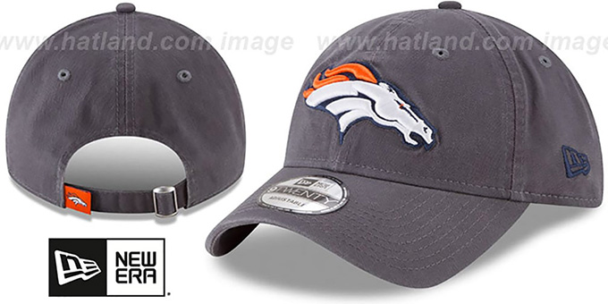Broncos 'CORE-CLASSIC STRAPBACK' Charcoal Hat by New Era