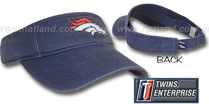 Broncos 'G-W VISOR' by Twins - navy : pictured without stickers that these products are shipped with