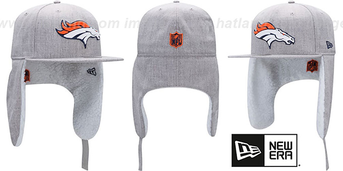 Broncos  HEATHER-DOGEAR  Light Grey Fitted Hat by ... 98fda2b09d2
