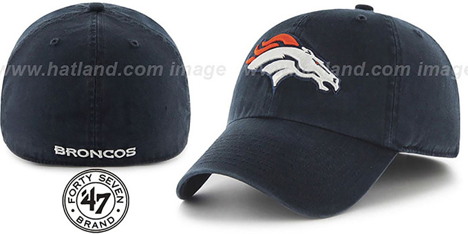 Broncos 'NFL FRANCHISE' Navy Hat by 47 Brand : pictured without stickers that these products are shipped with