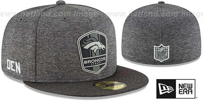 58c3c6d8026 Broncos  ROAD ONFIELD STADIUM  Charcoal-Black Fitted Hat by New Era