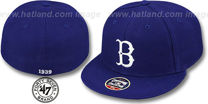 Brooklyn Dodgers '1939 COOPERSTOWN ' Fitted Hat by Twins 47 Brand : pictured without stickers that these products are shipped with