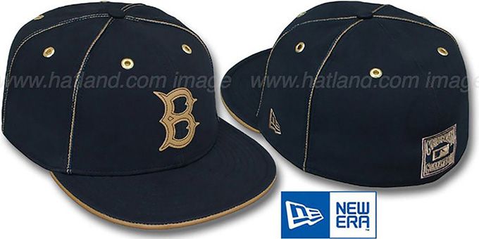 Brooklyn Dodgers COOP 'NAVY DaBu' Fitted Hat by New Era : pictured without stickers that these products are shipped with