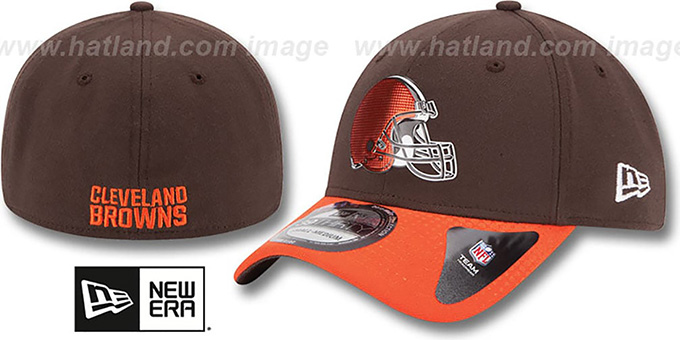 Browns '2015 NFL DRAFT FLEX'  Hat by New Era : pictured without stickers that these products are shipped with