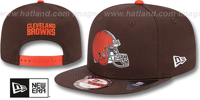 Browns '2015 NFL DRAFT SNAPBACK' Brown Hat by New Era : pictured without stickers that these products are shipped with