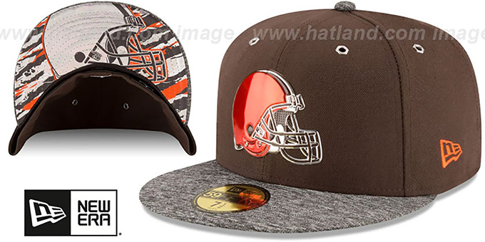 Browns '2016 NFL DRAFT' Fitted Hat by New Era : pictured without stickers that these products are shipped with