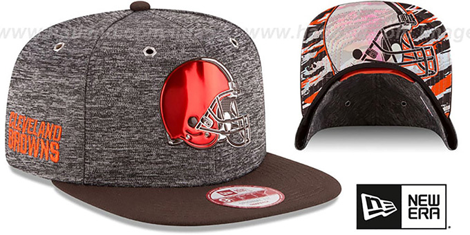 Browns '2016 NFL DRAFT SNAPBACK' Hat by New Era : pictured without stickers that these products are shipped with