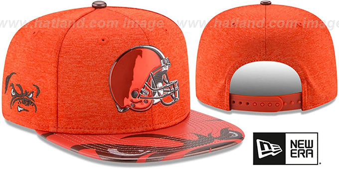 separation shoes a7bf8 623a6 Browns 2017 NFL ONSTAGE SNAPBACK Hat by New Era