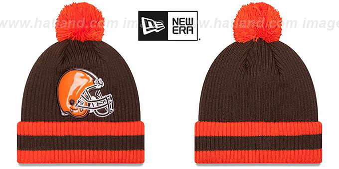 Browns 'CHILLER FILLER BEANIE' Brown-Orange by New Era : pictured without stickers that these products are shipped with