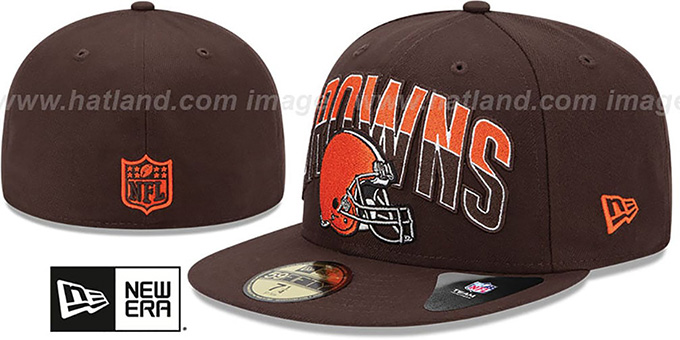 Browns 'NFL 2013 DRAFT' Brown 59FIFTY Fitted Hat by New Era : pictured without stickers that these products are shipped with