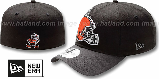 Browns 'NFL BLACK-CLASSIC FLEX' Hat by New Era : pictured without stickers that these products are shipped with