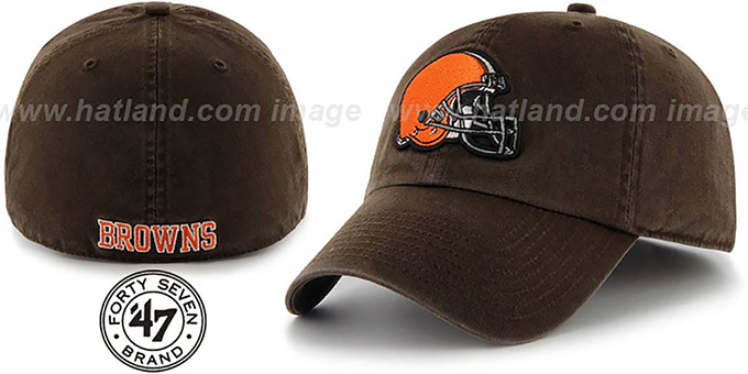Browns 'NFL FRANCHISE' Brown Hat by 47 Brand : pictured without stickers that these products are shipped with