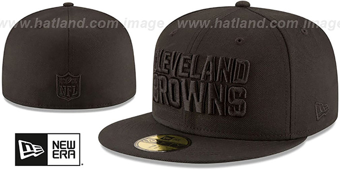 Browns 'NFL TEAM-BASIC BLACKOUT' Fitted Hat by New Era