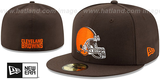 Browns 'NFL TEAM-BASIC' Brown Fitted Hat by New Era