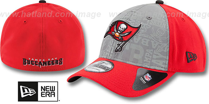 Buccaneers '2014 NFL DRAFT FLEX' Red Hat by New Era : pictured without stickers that these products are shipped with