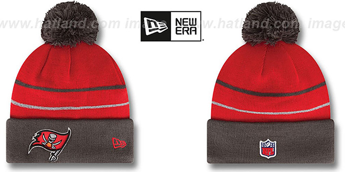 Buccaneers 'THANKSGIVING DAY' Knit Beanie Hat by New Era : pictured without stickers that these products are shipped with