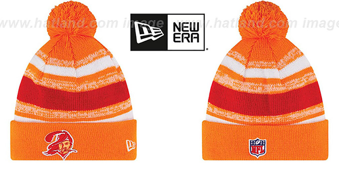 Buccaneers '2014 THROWBACK STADIUM' Knit Beanie Hat by New Era : pictured without stickers that these products are shipped with