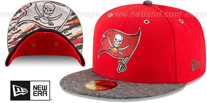 Buccaneers '2016 NFL DRAFT' Fitted Hat by New Era : pictured without stickers that these products are shipped with
