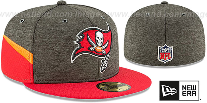 7dd56e5d Tampa Bay Buccaneers HOME ONFIELD STADIUM Grey-Red Fitted Hat by New Era