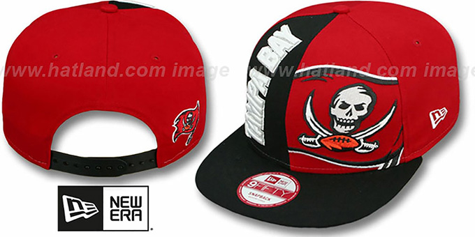 Buccaneers 'NE-NC DOUBLE COVERAGE SNAPBACK' Hat by New Era : pictured without stickers that these products are shipped with