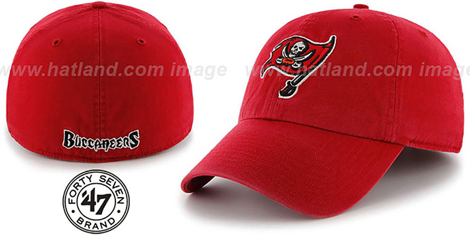 Buccaneers 'NFL FRANCHISE' Red Hat by 47 Brand : pictured without stickers that these products are shipped with