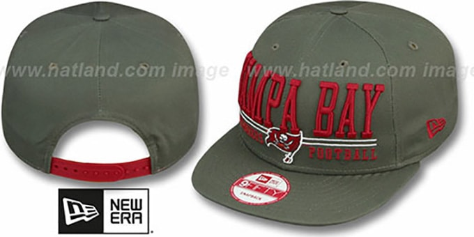 Buccaneers 'NFL LATERAL SNAPBACK' Grey Hat by New Era : pictured without stickers that these products are shipped with