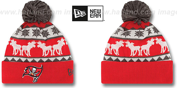 Buccaneers 'THE-MOOSER' Knit Beanie Hat by New Era : pictured without stickers that these products are shipped with