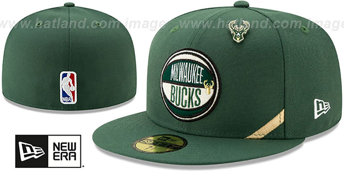 Bucks '2019 NBA DRAFT' Green Fitted Hat by New Era