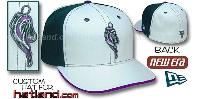 Bucks 'INSIDER PINWHEEL' White-Green Fitted Hat by New Era