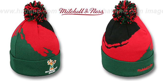 Bucks 'PAINTBRUSH BEANIE' by Mitchell and Ness : pictured without stickers that these products are shipped with