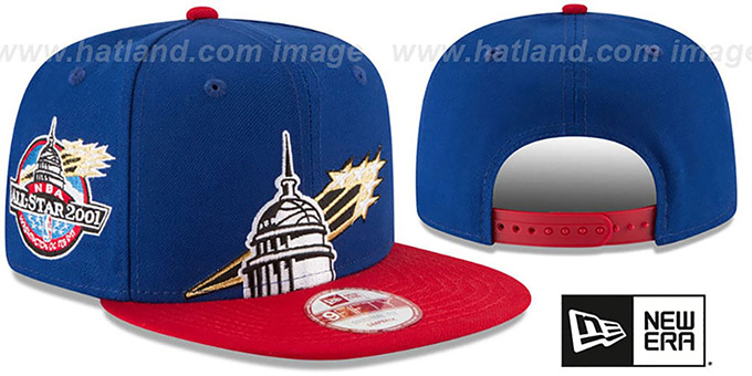 Bullets '2001 NBA ALL-STAR SNAPBACK' Hat by New Era : pictured without stickers that these products are shipped with