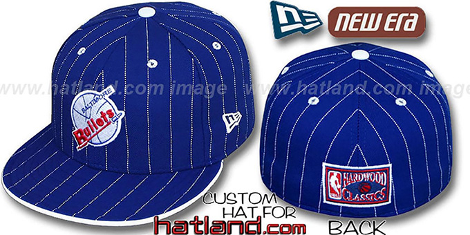 Bullets HWC 'FABULOUS' Royal-White Fitted Hat by New Era : pictured without stickers that these products are shipped with