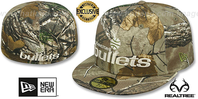 Bullets 'NBA TEAM-BASIC' Realtree Camo Fitted Hat by New Era : pictured without stickers that these products are shipped with