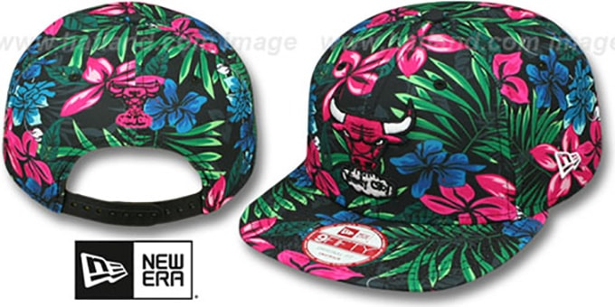 Bulls 'AMAZON BLOOM SNAPBACK' Hat by New Era : pictured without stickers that these products are shipped with