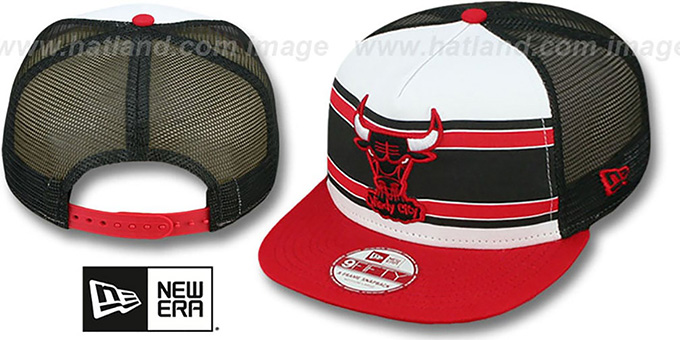 Bulls 'BAND-SLAP SNAPBACK' Hat by New Era : pictured without stickers that these products are shipped with