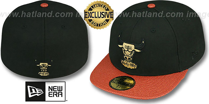Bulls 'BASKET-BALLIN' Black Fitted Hat by New Era : pictured without stickers that these products are shipped with