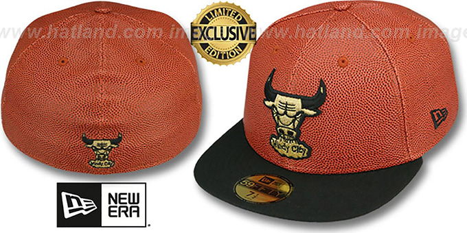 Bulls 'BASKET-BALLIN' Fitted Hat by New Era : pictured without stickers that these products are shipped with