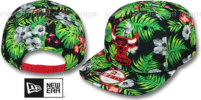 Bulls 'BLOOM SNAPBACK' Hat by New Era : pictured without stickers that these products are shipped with