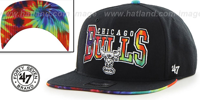 Bulls 'CANNED-HEAT SNAPBACK' Black Hat by Twins 47 Brand : pictured without stickers that these products are shipped with