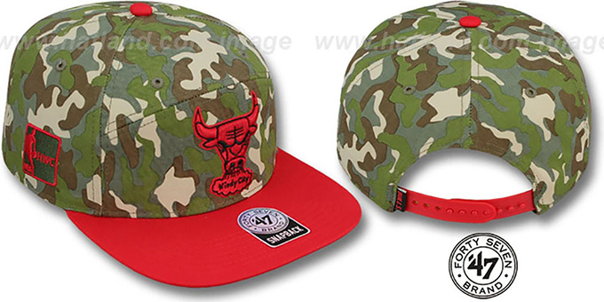 Bulls 'CHENY CAMPER STRAPBACK' Hat by Twins 47 Brand : pictured without stickers that these products are shipped with