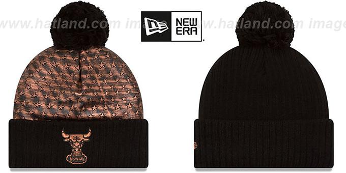 be496e81f90 Chicago Bulls COPPER CRUSH Black Knit Beanie by New Era