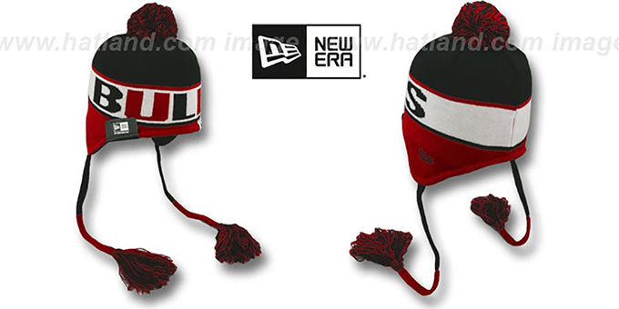 Bulls 'CRAYON BOX' Knit Beanie Hat by New Era : pictured without stickers that these products are shipped with