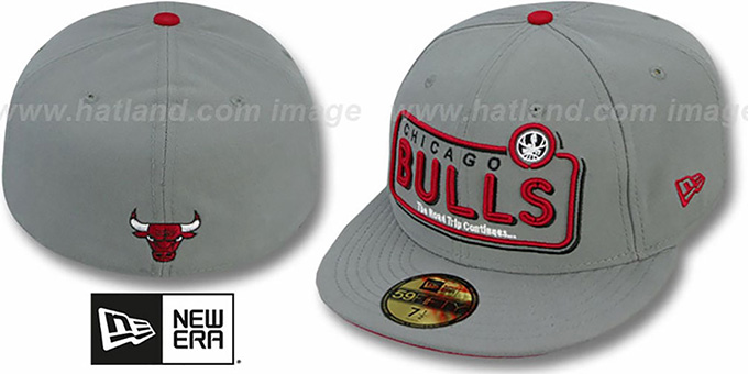Bulls 'ESPN NEON' Grey Fitted Hat by New Era : pictured without stickers that these products are shipped with