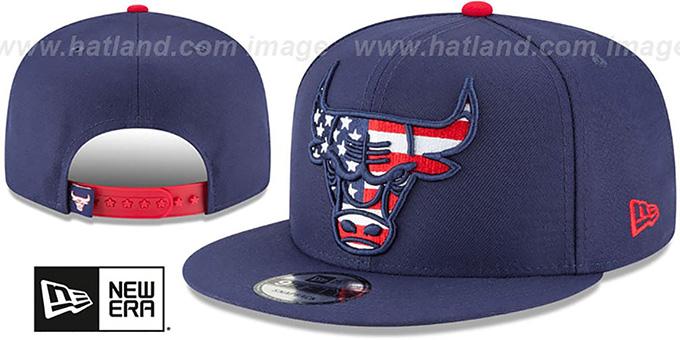 2fdc90d20 Chicago Bulls FLAG FILL INSIDER SNAPBACK Navy Hat by New Era