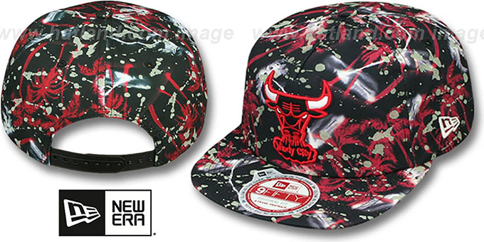 Bulls 'GLOWSPECK SNAPBACK' Hat by New Era : pictured without stickers that these products are shipped with