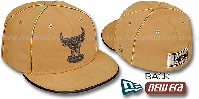 Bulls 'HARDWOOD DaBu' Fitted Hat by New Era : pictured without stickers that these products are shipped with