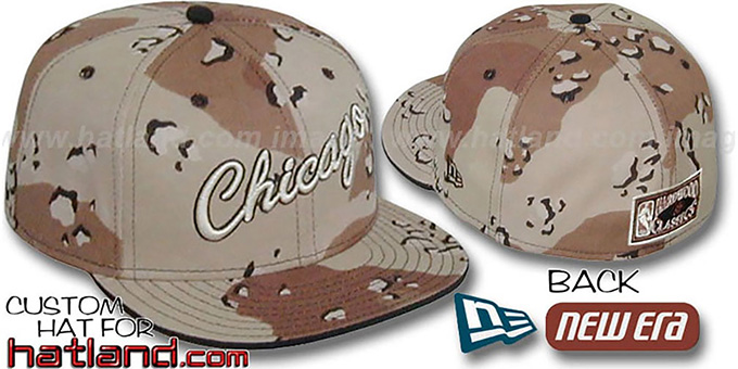 Bulls HARDWOOD 'DESERT STORM CAMO' Fitted Hat : pictured without stickers that these products are shipped with