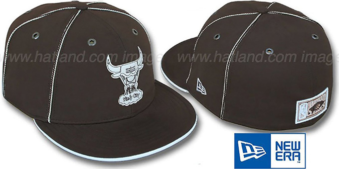 Bulls 'HW CHOCOLATE DaBu' Fitted Hat by New Era : pictured without stickers that these products are shipped with