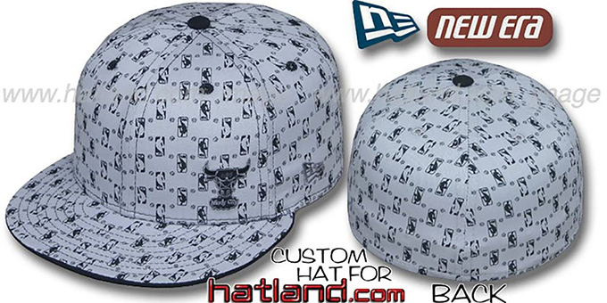 Bulls 'HW-NBA FLAWLESS FLOCKING' Grey-Black Fitted Hat : pictured without stickers that these products are shipped with